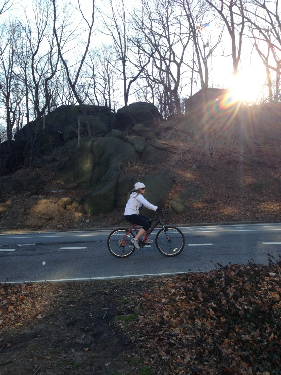 Riding in Central Park North
