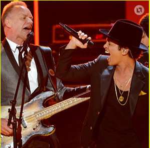 Sting and Bruno Mars